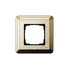 Рамка 1-ая Gira ClassiX Art Латунь/Кремовый 211673 IP20
