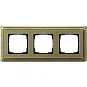 Рамка 3-ая Gira ClassiX Art Бронза 213661 IP20