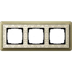 Рамка 3-ая Gira ClassiX Art Бронза/Кремовый 213663 IP20