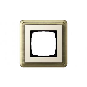 Рамка 1-ая Gira ClassiX Бронза/Кремовый 211623 IP20