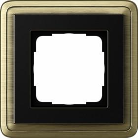 Рамка 1-ая Gira ClassiX Латунь/Черный 211632 IP20