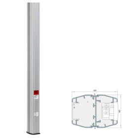 911385BS Колонна 2-стороняя(Codi MC 110/80-385), высота 3,85 метра, 110х80мм, Алюминий