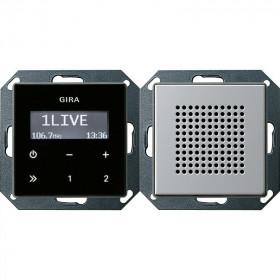 2280203 Встраиваемое радио с динамиком Gira E22 Алюминий