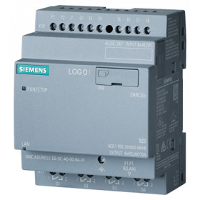 6ED1052-2HB00-0BA8 Логический модуль LOGO!8 24RCEo без дисплея и клавиатуры 24V AC/DC