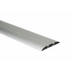 TF21183-8 Напольный кабель-канал 130x18мм(основа с крышкой на среднюю секцию, 3 секции), Алюминий