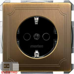 Розетка Merten System Design Античная латунь MTN2300-4143 IP20