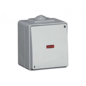 Выключатель Efapel Белый CBR 48023 IP65 Одноклавишный двухполюсный с сигнальной лампой