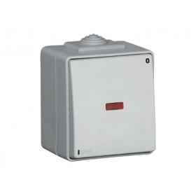 Выключатель Efapel Серый CCZ 48023 IP65 Одноклавишный двухполюсный с сигнальной лампой