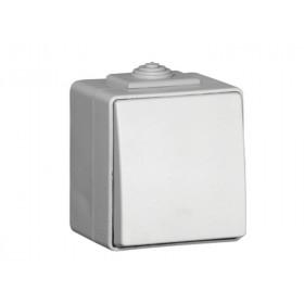 48071 CBR Выключатель IP65 Efapel 48 одноклавишный проходной с 2-х мест влагозащищенный Белый