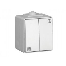 Нажимная кнопка Efapel Белый CBR 48281 IP65 двойная для жалюзи