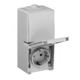 Блок розетка и выключатель Efapel 48 Белый 48861 CBR IP65