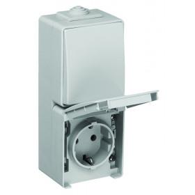 Блок розетка и выключатель Efapel 48 Серый 48861 CCZ IP65