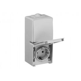 Блок розетка и выключатель Efapel 48 Белый 48866 CBR IP65