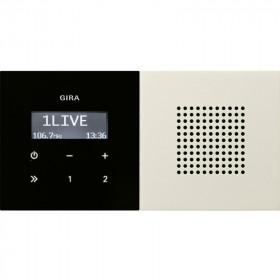 2280111 Встраиваемое радио с динамиком Gira F100 Глянцевый Кремовый