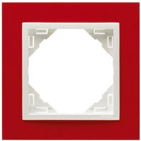 90910 TVG Рамка 1-ая Logus90 Animato Efapel Красный-Лёд