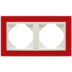 90920 TVG Рамка 2-ая Logus90 Animato Efapel Красный-Лёд