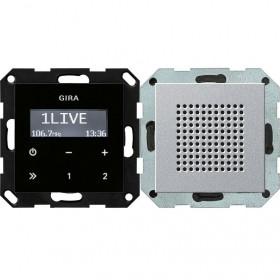 228026 Встраиваемое радио с динамиком Gira Standard 55 Алюминий