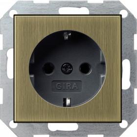 Розетка Gira System 55 Бронза/Антрацит 188603 IP20