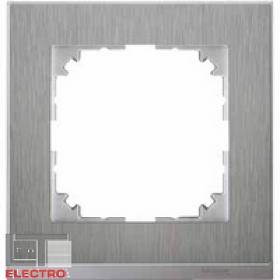 MTN4010-3646 Рамка 1-я(M-Pure Decor), Нержавеющая сталь/Алюминий