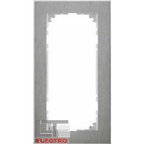 MTN4025-3646 Рамка 2-я без перегородки(M-Pure Decor), Нержавеющая сталь/Алюминий