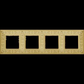 FD01414OB Рамка 4-я(GRANADA), Bright Gold