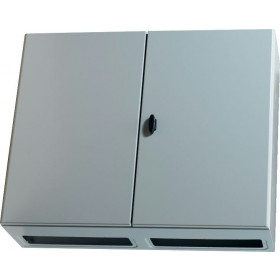 NSYS3D101240DP Шкаф металлический навесной Spacial S3D: 2 двери, с монт.платой 1000Х1000Х400мм, IP55