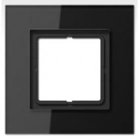 Рамка 1-ая Jung LS plus Стекло черное LSP981GLSW IP20