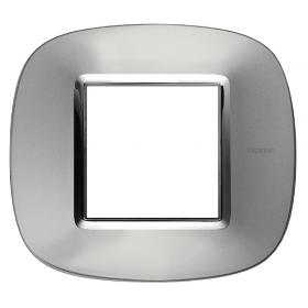 Рамка 1-ая Bticino Axolute Зеркальный алюминий HB4802XC IP20