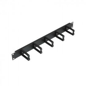 87010 Кабельный органайзер 19' 1U горизонтальный Экопласт Ecolan+ Черный