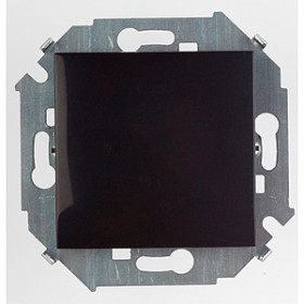 1591101-032 Выключатель одноклавишный Simon 15 Черный IP20