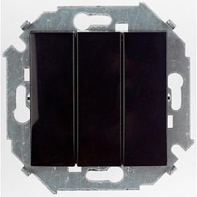 Выключатель Simon 15 трехклавишный черный 1591391-032