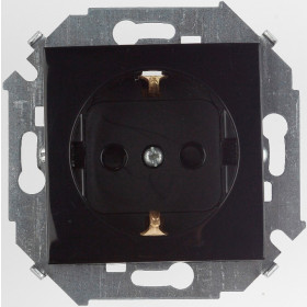 1591432-032 Розетка Simon 15 Черный IP20
