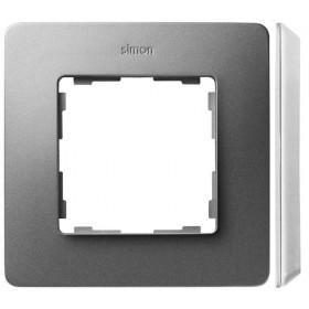 8200610-093 Рамка на 1-ая Simon 82 Detail Original Алюминий-Основание Белое
