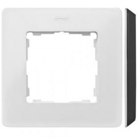 8200610-200 Рамка на 1-ая Simon 82 Detail Original Белый-Основание Чёрное