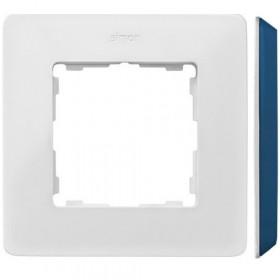 8200610-201 Рамка на 1-ая Simon 82 Detail Original Белый-Основание Основание Индиго