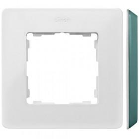 8200610-202 Рамка на 1-ая Simon 82 Detail Original Белый-Основание Цвет Морской Волны