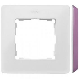 8200610-203 Рамка на 1-ая Simon 82 Detail Original Белый-Основание Пастельно-Розовое