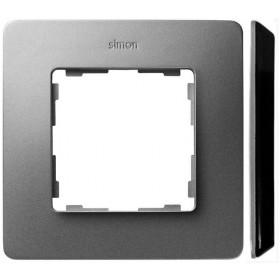 8200610-293 Рамка на 1-ая Simon 82 Detail Original Алюминий-Основание Чёрное