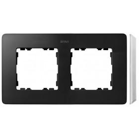 8200620-038 Рамка на 2-ая Simon 82 Detail Original Графит-Основание Основание Белое