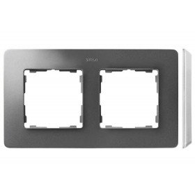 8200620-093 Рамка на 2-ая Simon 82 Detail Original Алюминий-Основание Белое