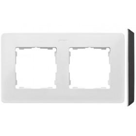 8200620-200 Рамка на 2-ая Simon 82 Detail Original Белый-Основание Чёрное