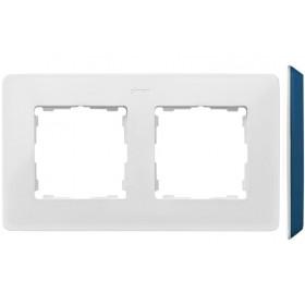 8200620-201 Рамка на 2-ая Simon 82 Detail Original Белый-Основание Основание Индиго