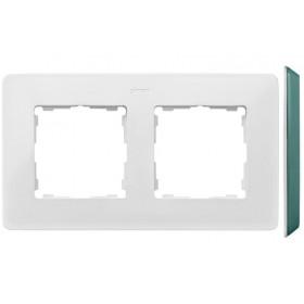 8200620-202 Рамка на 2-ая Simon 82 Detail Original Белый-Основание Цвет Морской Волны