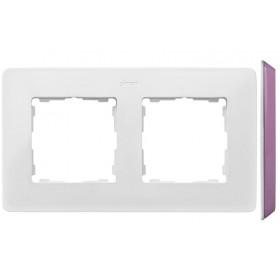8200620-203 Рамка на 2-ая Simon 82 Detail Original Белый-Основание Пастельно-Розовое