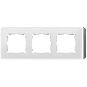 8200630-030 Рамка на 3-ая Simon 82 Detail Original Белый-Основание Серый Голубь