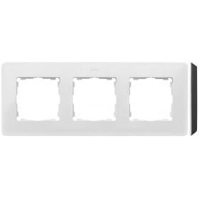 8200630-200 Рамка на 3-ая Simon 82 Detail Original Белый-Основание Чёрное
