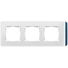 8200630-201 Рамка на 3-ая Simon 82 Detail Original Белый-Основание Основание Индиго