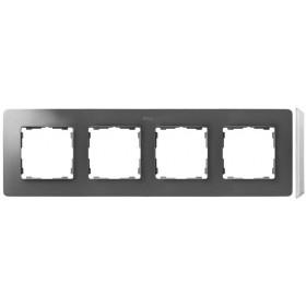 8200640-093 Рамка на 4-ая Simon 82 Detail Original Алюминий-Основание Белое