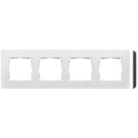8200640-200 Рамка на 4-ая Simon 82 Detail Original Белый-Основание Чёрное
