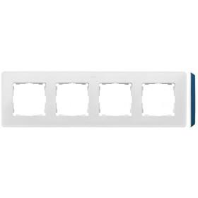 8200640-201 Рамка на 4-ая Simon 82 Detail Original Белый-Основание Основание Индиго